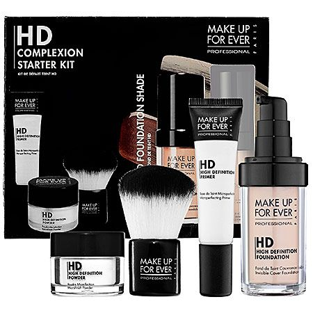 Complexion starter kit   Makeup Forever I've been using Mac but I'm planning on trying this! Hope it lives up to the reviews!