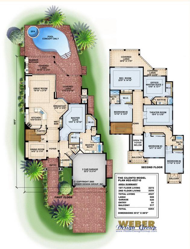 mediterranean house plan - cilento house plan - weber design group