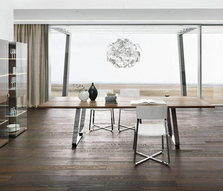 Esstisch mit Stühlen moderne Esszimmermöbel aus Holz