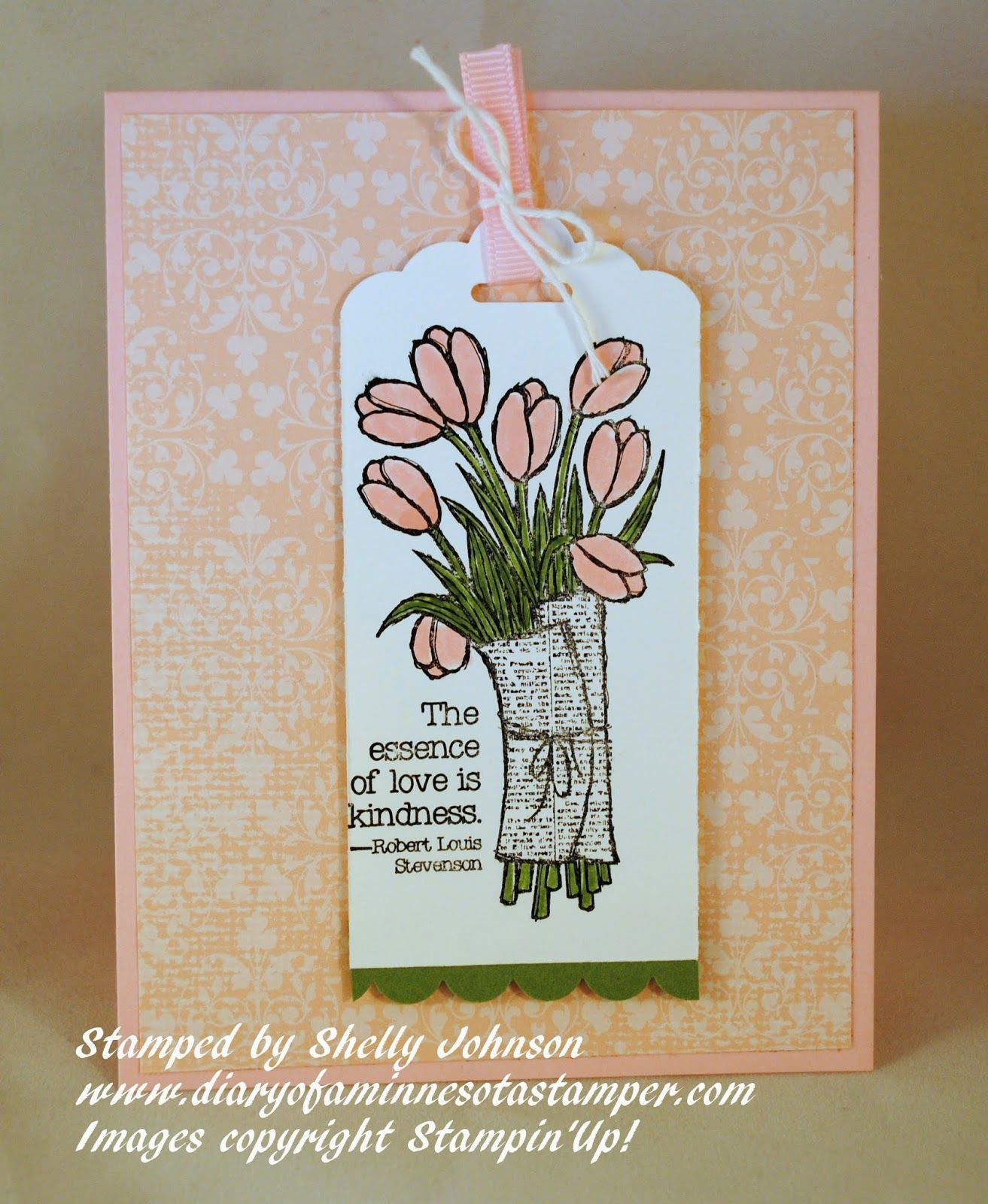 Diary of a minnesota stamper love is kindness card craft