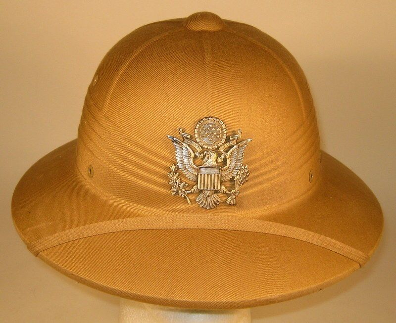 5c68a79ba9 USAF US Air Force Officer Pith Helmet Hat Cap 7 1 8 57 Rare   Obsolete