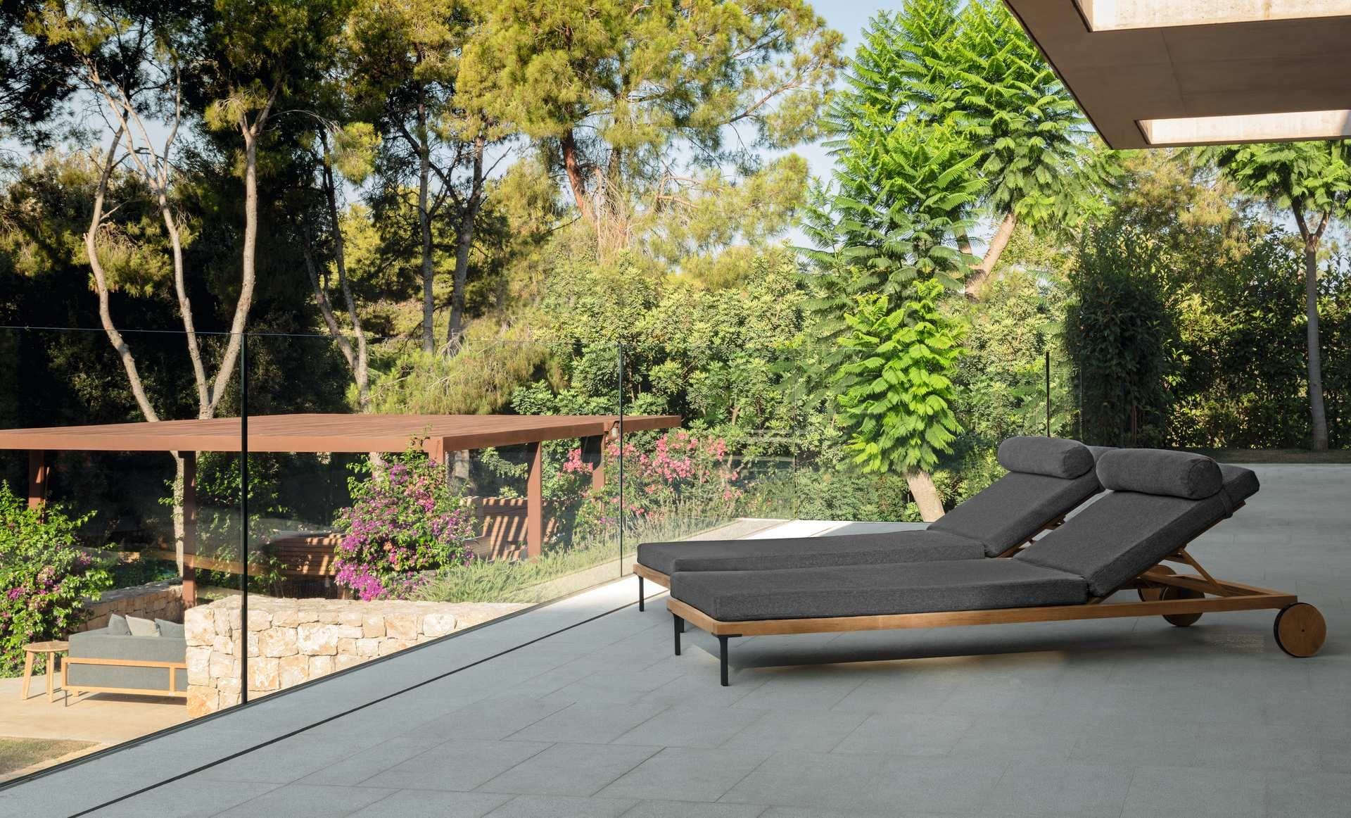 Cleo Teak Sunbed Italian Garden Furniture Talenti Garden Furniture Italian Garden Teak