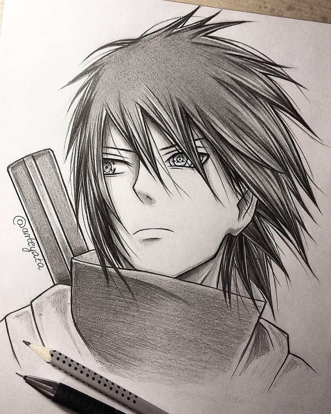 Desenho Incrivel Do Sasuke Feito A Lapis Estiloso Clique No