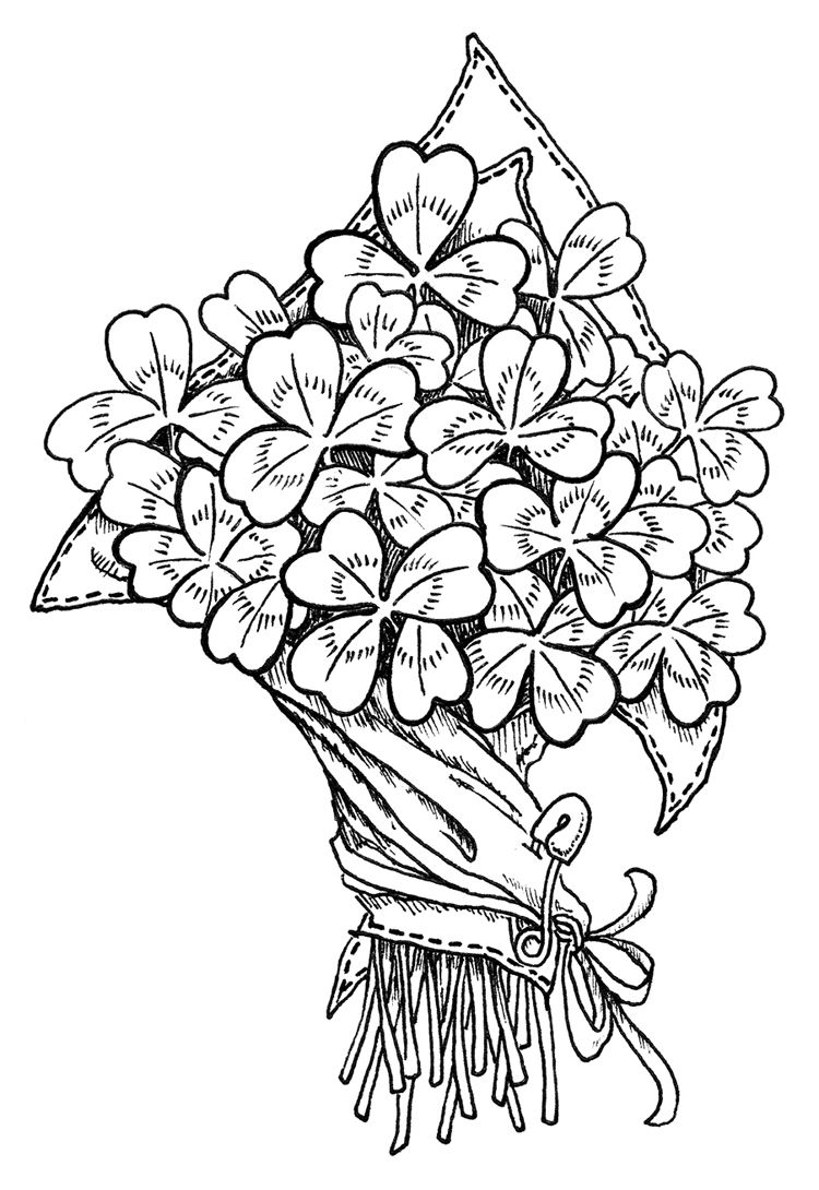 Flower Coloring Pages Coloring Pages Digital Stamps