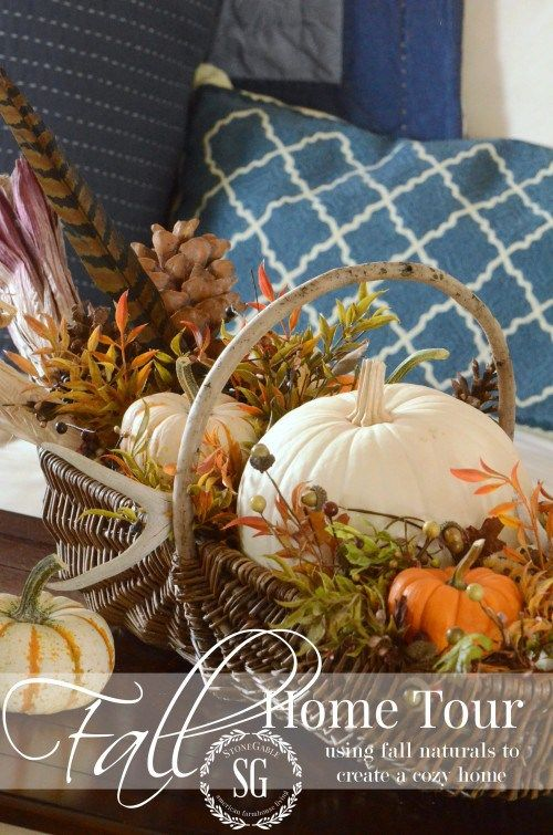 FALL HOME TOUR-celebrating fall with natural elements- lots of inspiration-stonegableblog.com