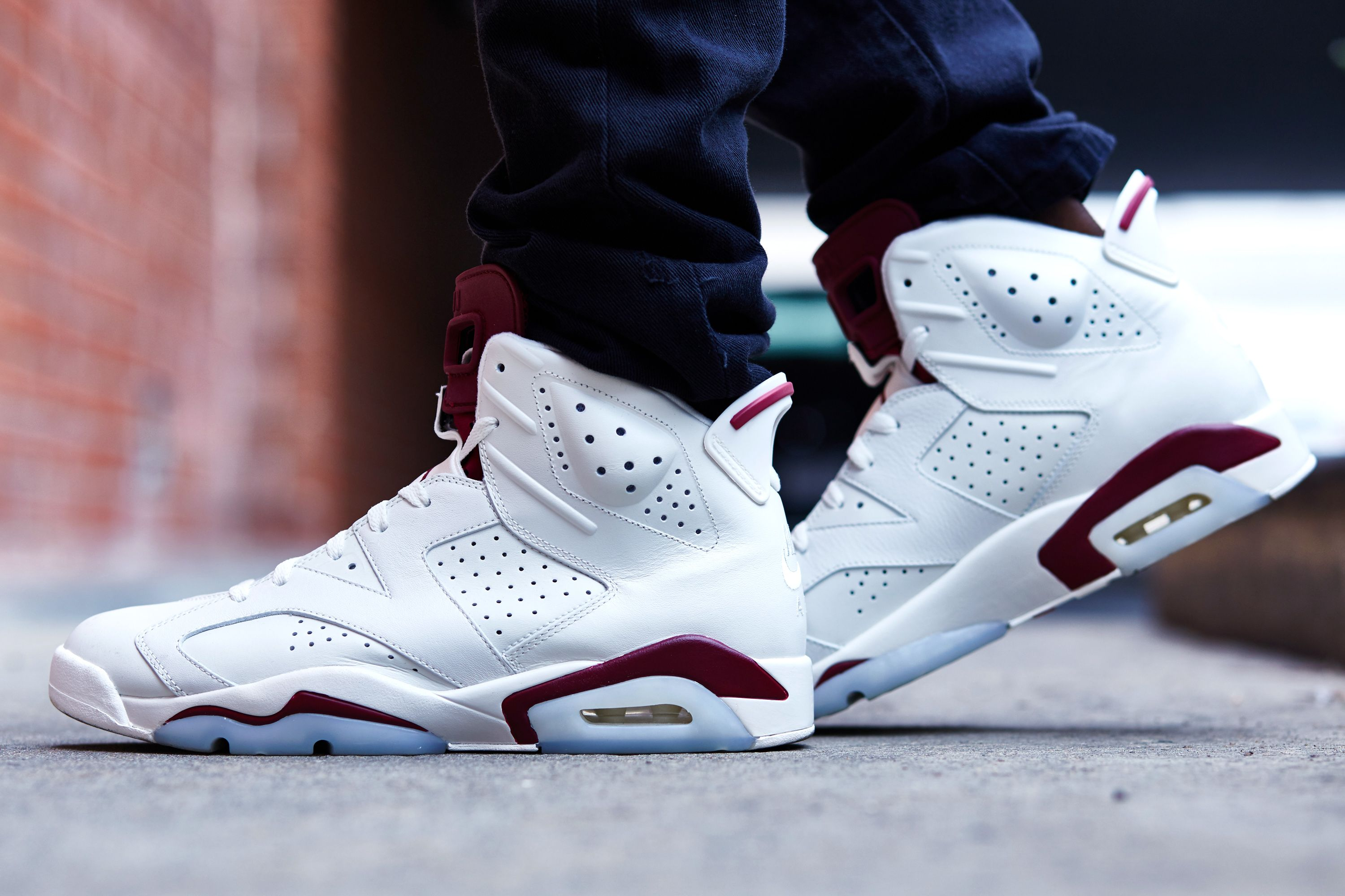 nike air jordan 6 retro gs maroon bells