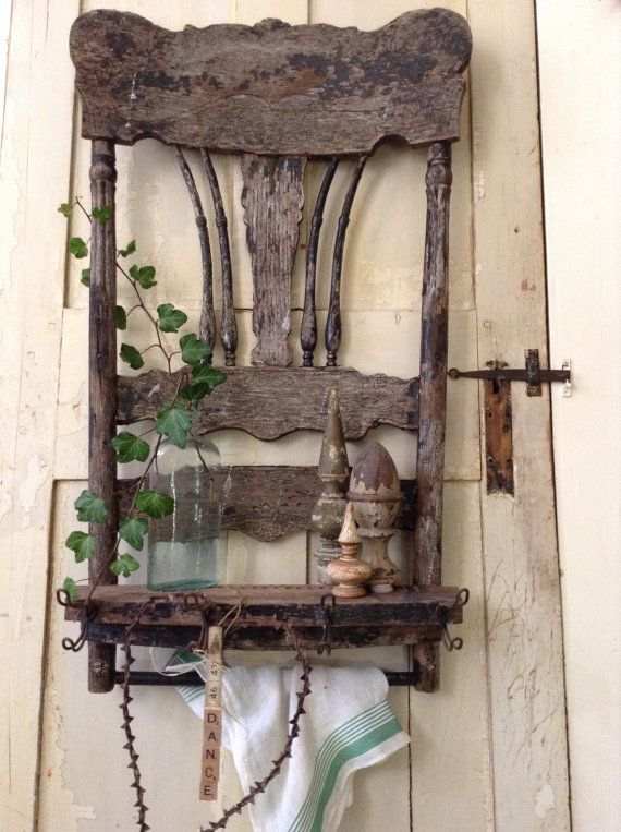 23 Hanging Wall Shelves Furniture Designs Ideas Plans: Hang Antique Chairs As Shelves