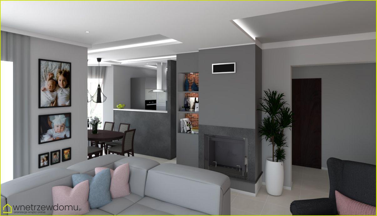 Salon Z Kominkiem I Aneksem Home Home Decor Decor