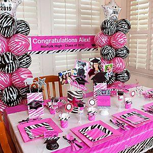 Pink Zebra Grad Party Room Idea Pinteres