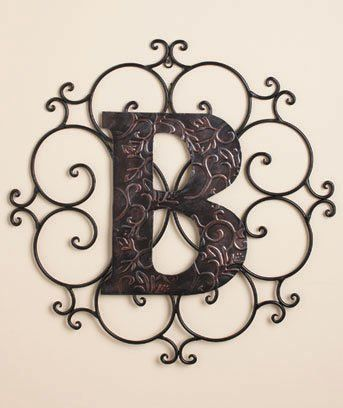 Monogram Wall Hanging Metal Personalized Metal Embossed Monogram Wall Hanging B  Housewares