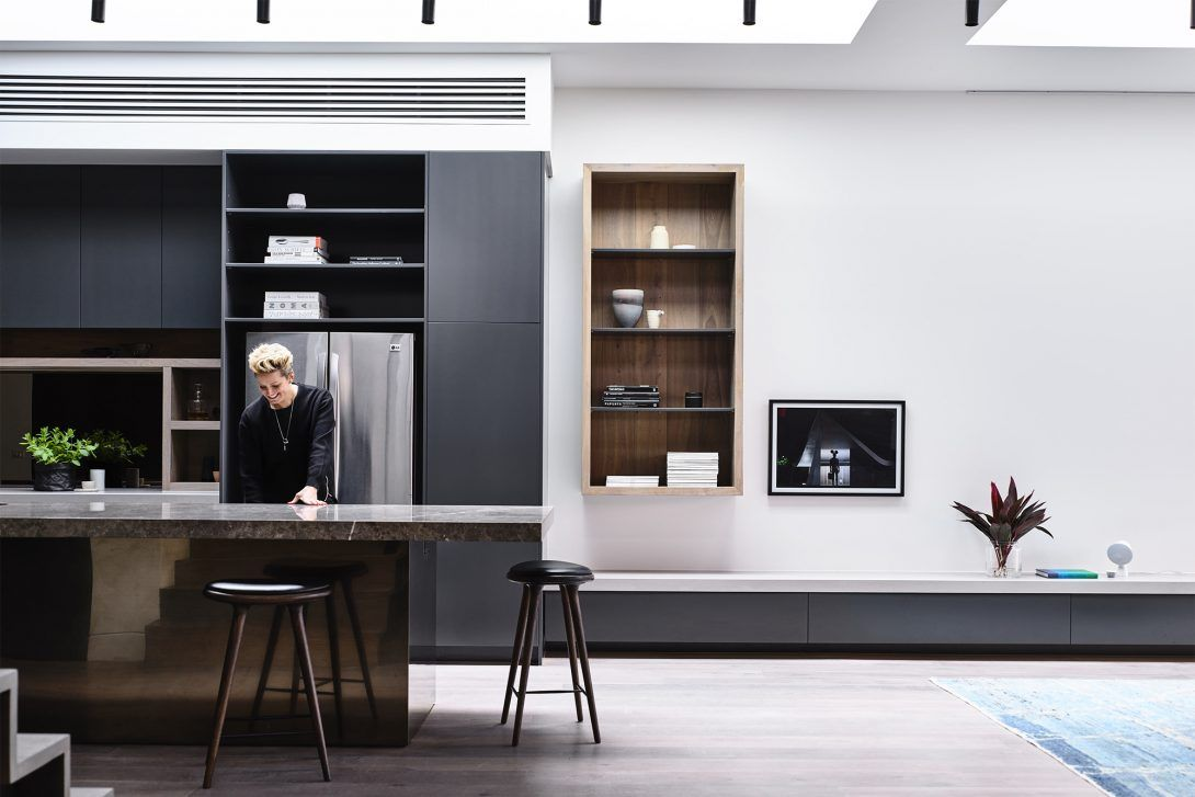 The Design Centres Around A Long Open Plan Living Space That Is Flooded  With Light From · St KildaBlack KitchensWork ...