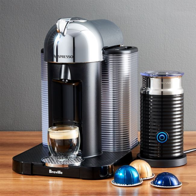 Nespresso ® by Breville VertuoLine Chrome Coffee/Espresso Maker Bundle #espressomaker