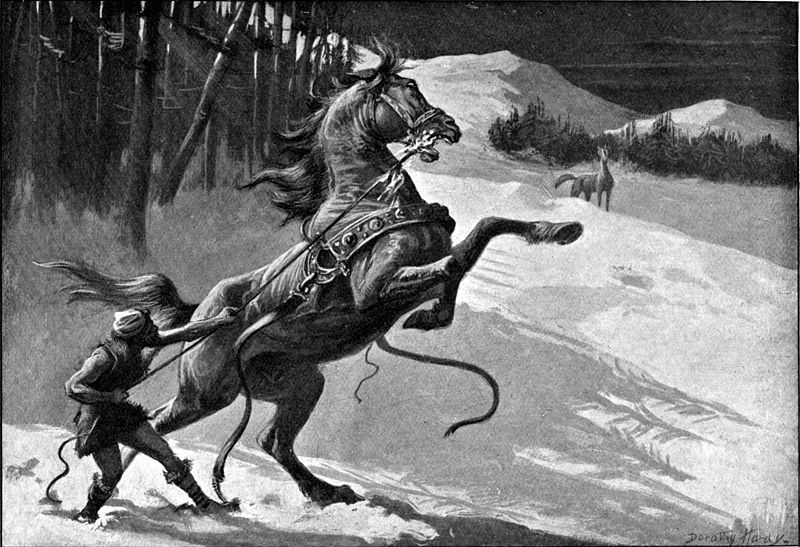 Loki and Svadilfari. The steed and Loki (in the form of a mare) end up being the parents of Sleipnir, Odin's eight-legged steed.
