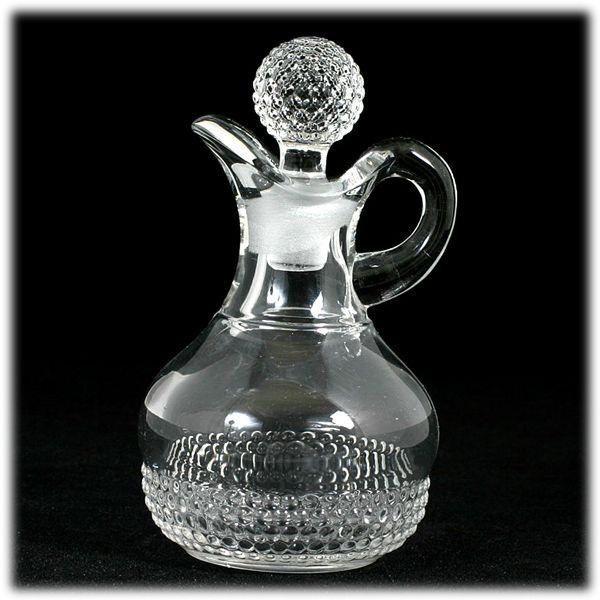 Duncan and Miller Teardrop Cruet Elegant Glass Vintage Crystal