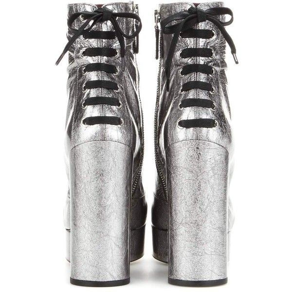 77b41118b2f Marc Jacobs Metallic Leather Platform Ankle Boots ( 1