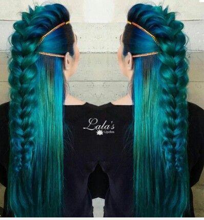 Mermaid hair awesome | Colorguard | Pinterest | Mermaid ...