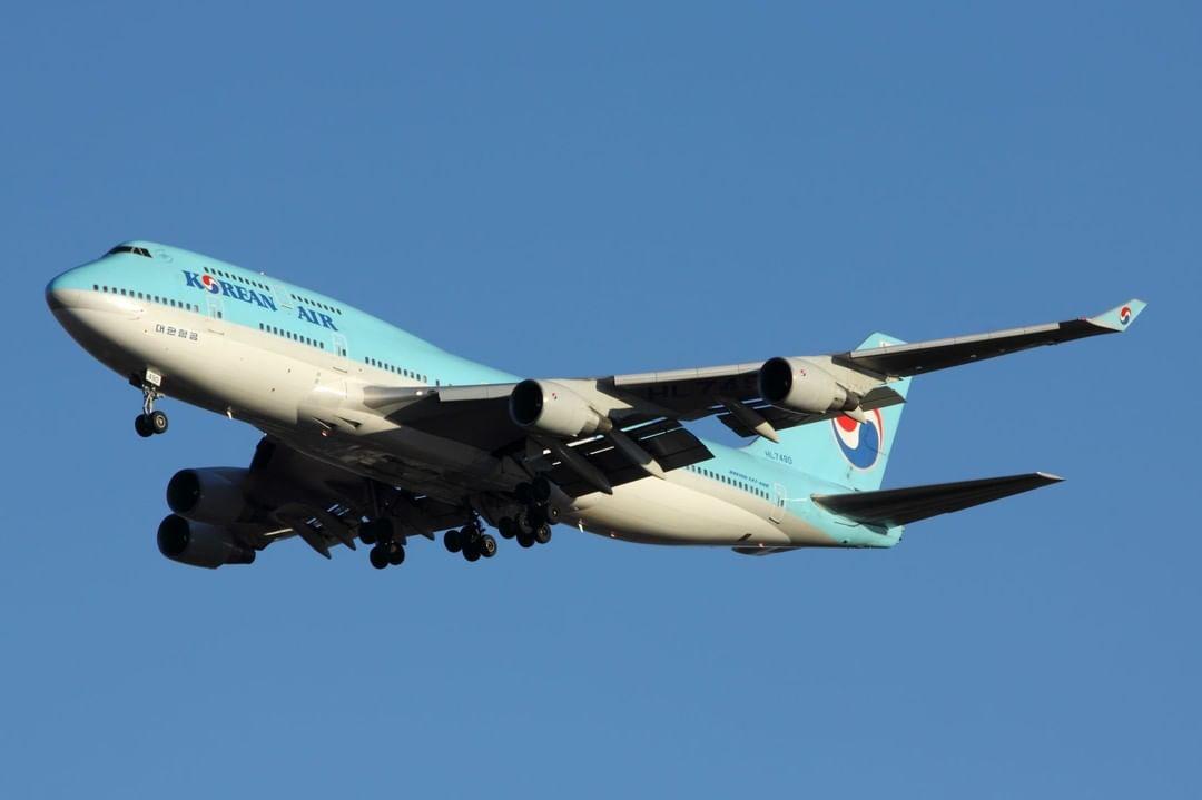 KoreanAir airline aircraft Boeing b747 Boeing747