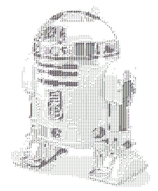 One Line Ascii Art Star Wars : R d ascii art pinterest computer