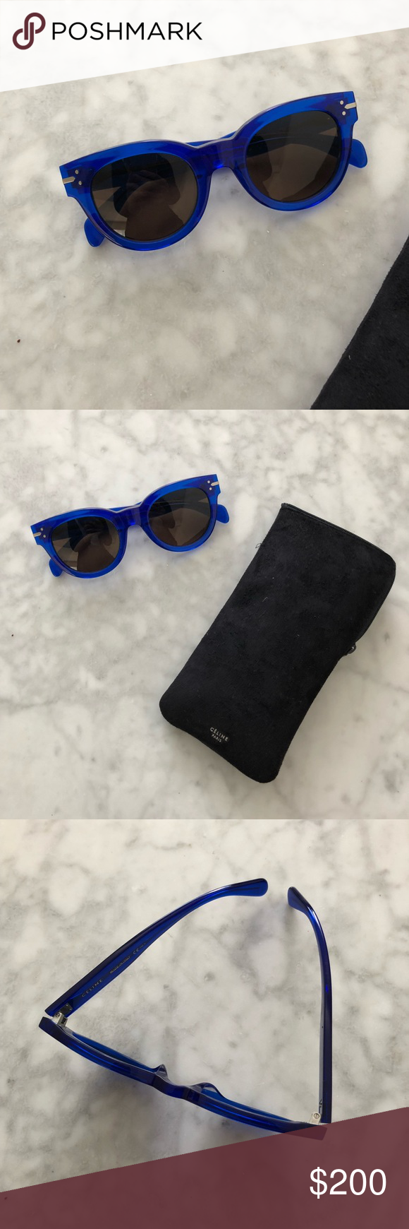 64a947a12bd7e Celine New Butterfly Sunglasses 41040  NEW  Brand new! Céline new butterfly  sunglasses! Blue! 41040! 50mm! 100% authentic! 🚫NO TRADES🚫 Celine  Accessories ...