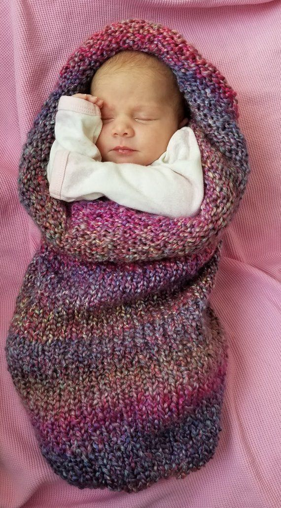 103abebe4 Knitted Newborn Baby Cocoon, Baby Swaddle Blanket, Newborn Photo Prop. Baby  Shower Gift. Baby Boy. B