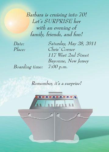 25 Personalized Cruise Theme Party Invitations Ctif 03 Beautiful