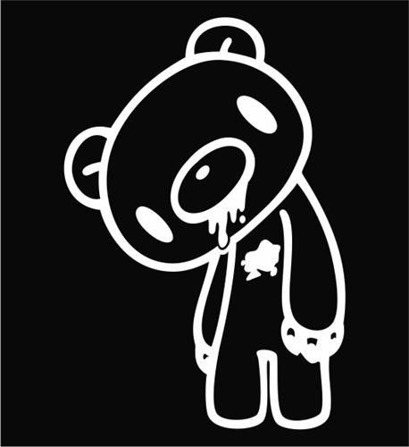 Gloomy bear die cut vinyl sticker decal