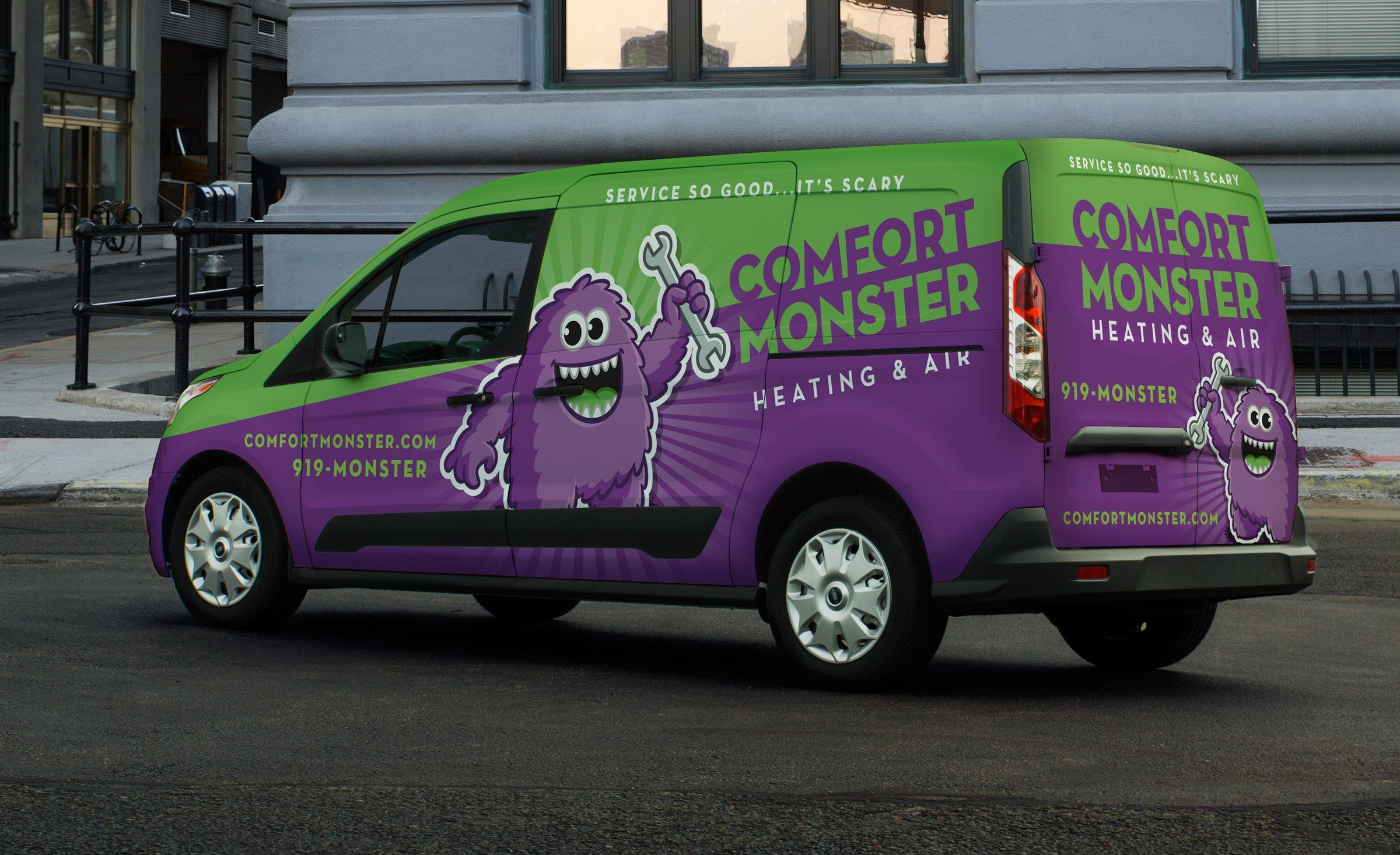 Comfort Monster Heating Air Kickcharge Creative Cool Trucks