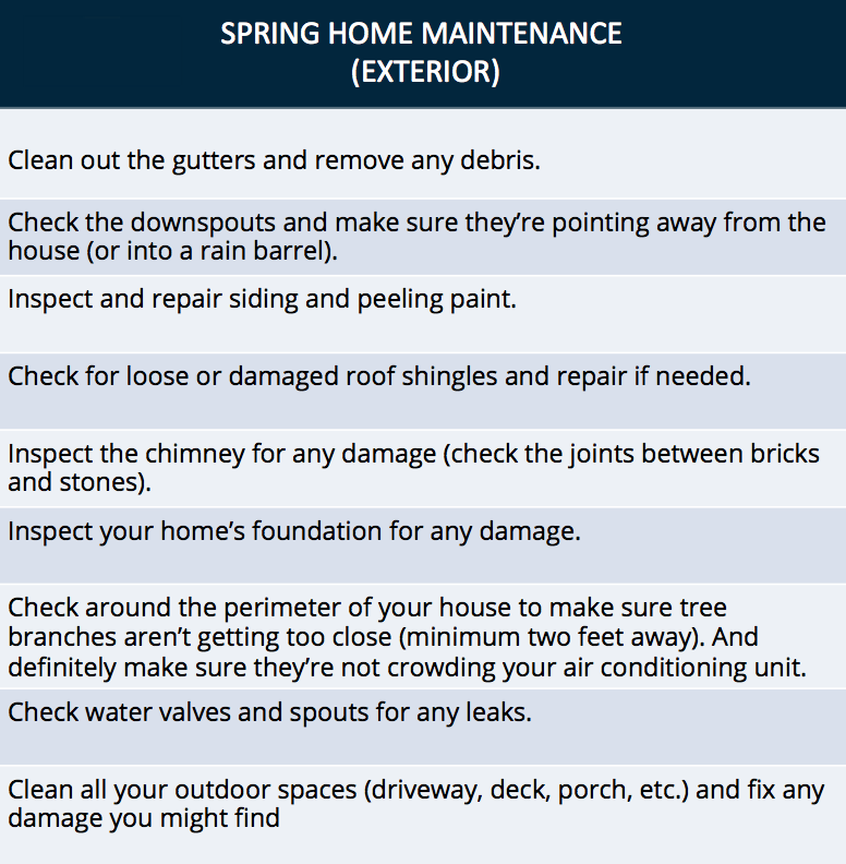 Spring Home Maintenance Checklist is part of home Improvement Exterior - There's no better way to preserve the value of your home than with regular, consistent maintenance  Here's a home maintenance checklist to make it easier