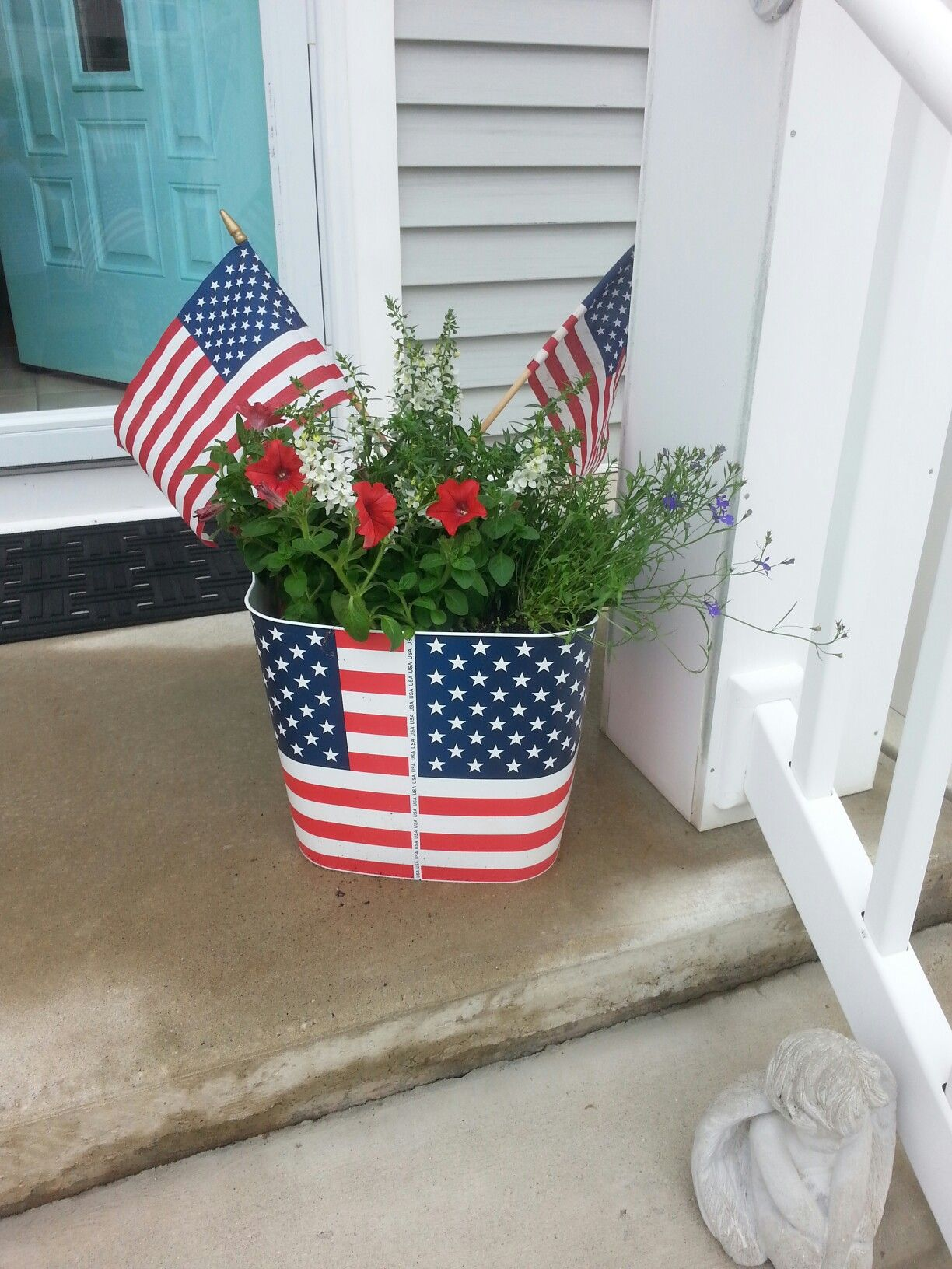 Stars and stripes trug from Lowes garden center