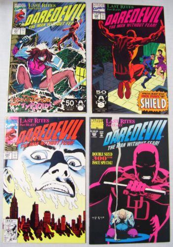 Marvel-Comics-Daredevil-4-Book-Lot-Issues-297-298-299-300-1991-1992