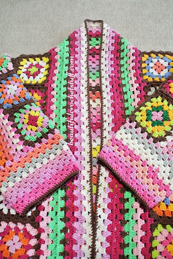 Granny Squares Cardigan Pattern (Work In Progress)   Beautiful ...