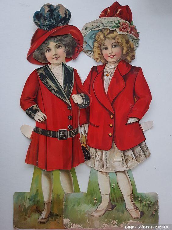 Викторианские наряды бумажных кукол / Интересное ...