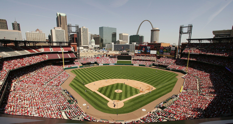 Busch Stadium Home To The St Louis Cardinals Busch Stadium Mlb Stadiums Baseball Park