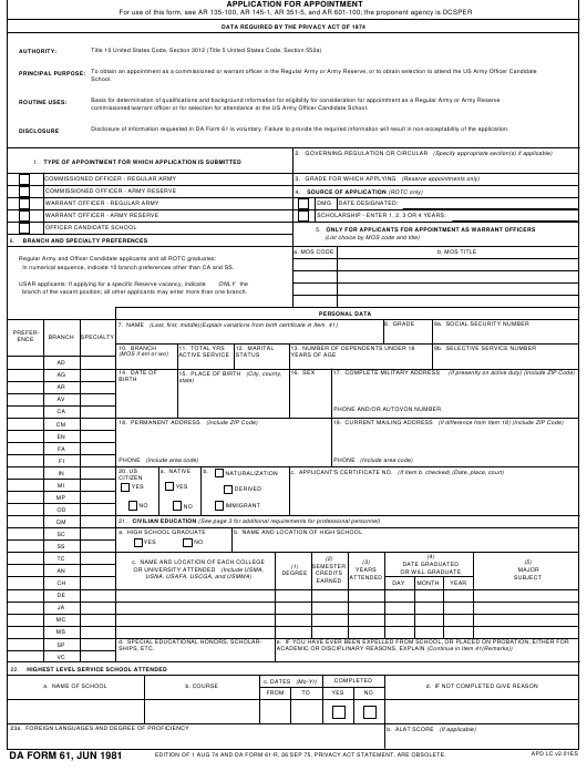 Da Form 2166-8 Fillable Pdf