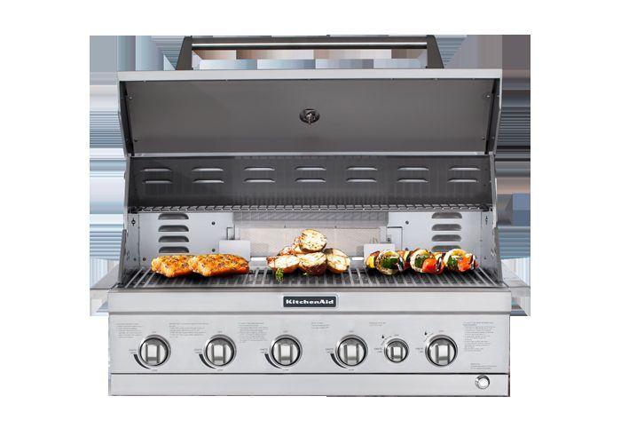 New Kitchenaid Jenn Air Bbq Grill 6 Burner Outdoor Kitchen Built In 36 Hd Kitchen Aid Built In Grill Propane Gas Grill
