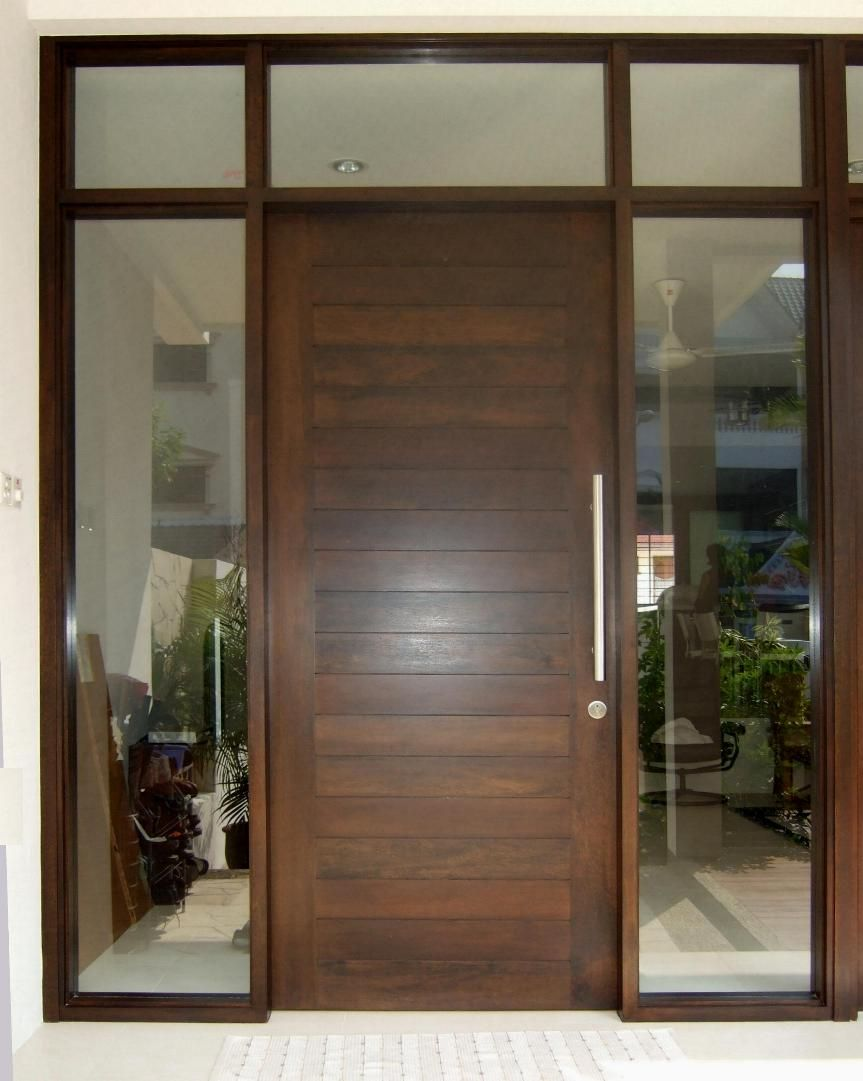 Wood front double doors google search door styles for Simple wooden front door designs