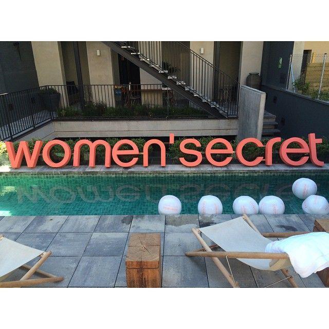 Todo listo para la #poolpartyWS #megustoWS  @womensecretofficial