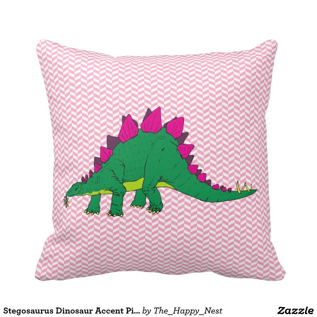 Stegosaurus dinosaur accent pillow products from the happy nest