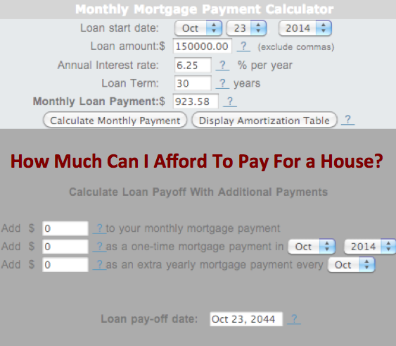 Need Help Finding Out How Much You Can Afford To Spend On Mortgage