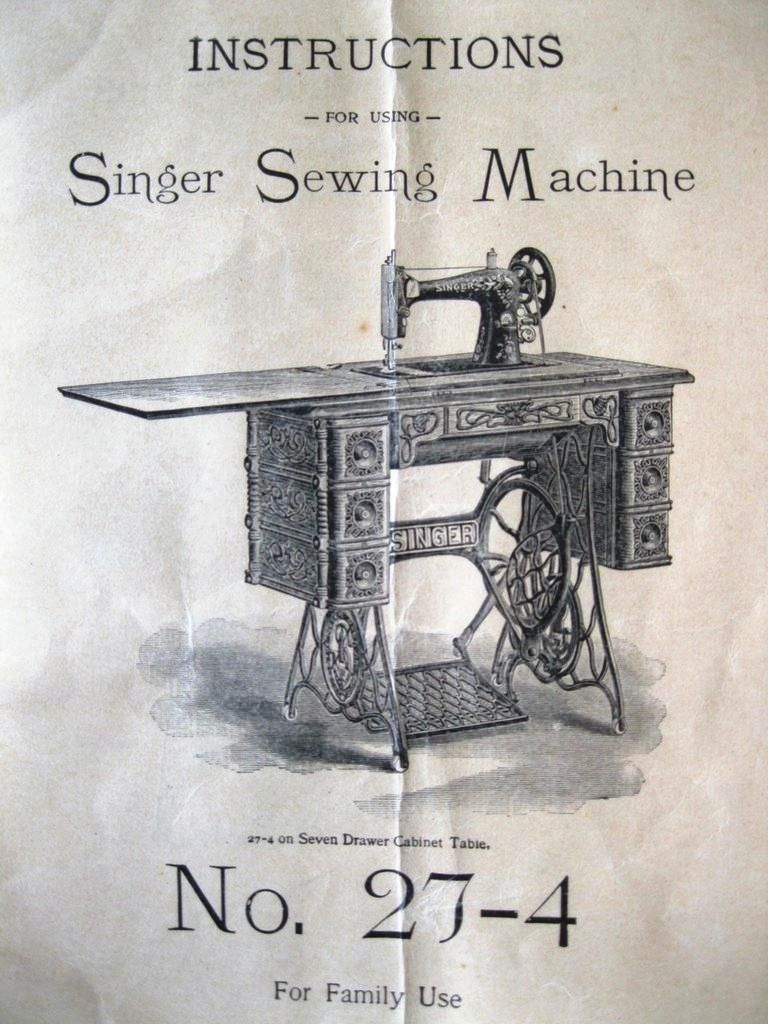 Instruction Manual From 1903