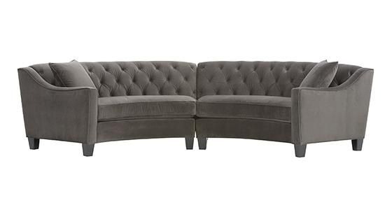 RIEMANN CURVED TUFTED SECTIONAL. If I ever buy a rounded couch this will be  sc 1 st  Pinterest : riemann curved tufted sectional - Sectionals, Sofas & Couches