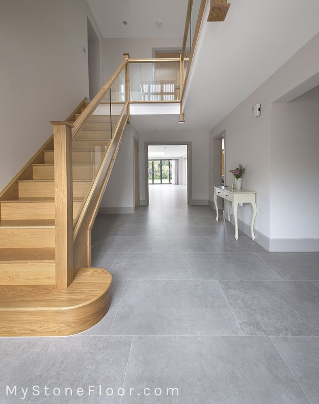 English Grey Porcelain Stone Tiles Available In For Floor Tiles Order Your Free Sample Of English Grey Porcelain Stone Tiles Today Home Tiled Hallway Grey Kitchen Tiles Living Room Flooring