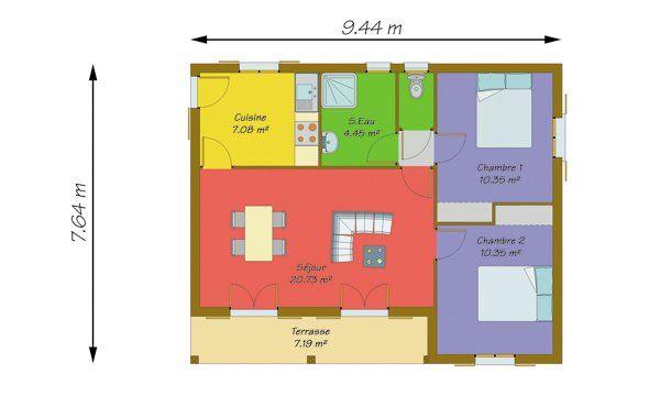 Plan Maison 50m2 1 Chambre Gamboahinestrosa