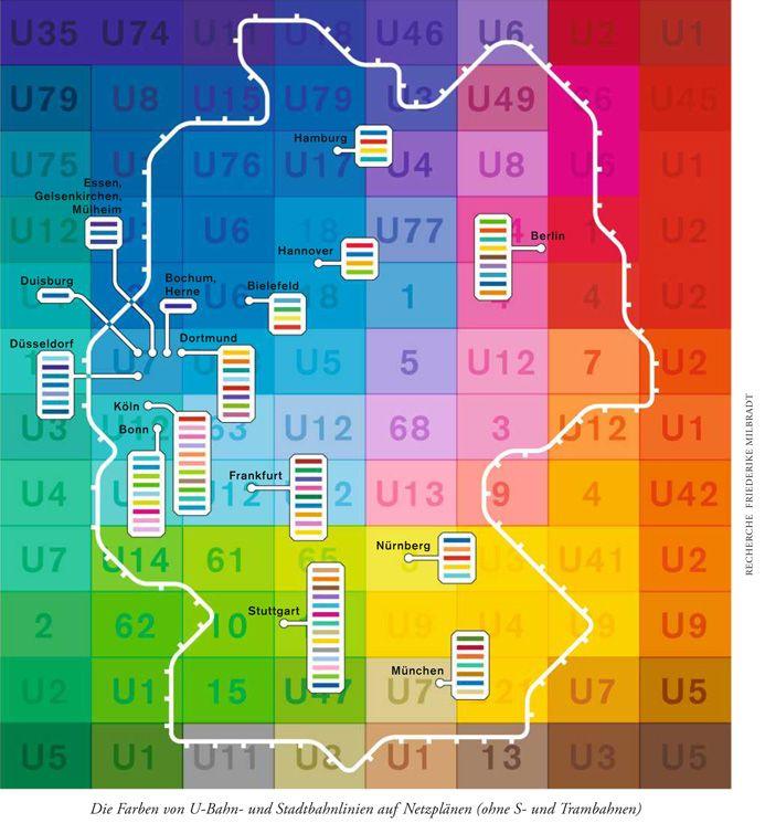 Farben Der U Bahn Linien Deutschlandkarte Karten Und U Bahn