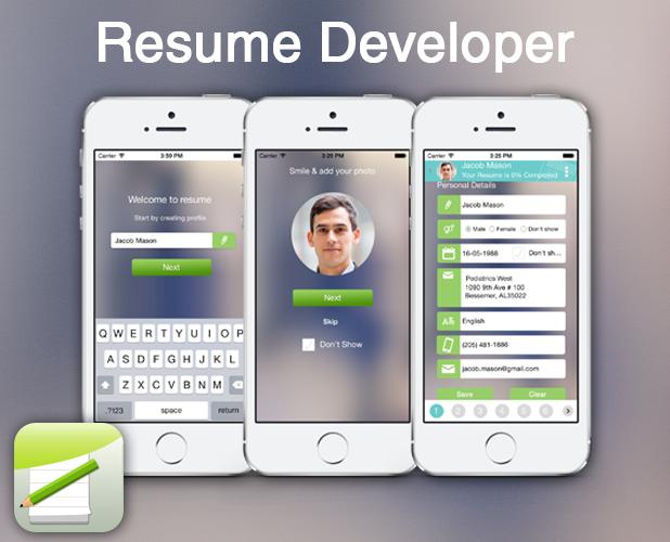 Resume Developer Create Resume on the Go!! App, Best