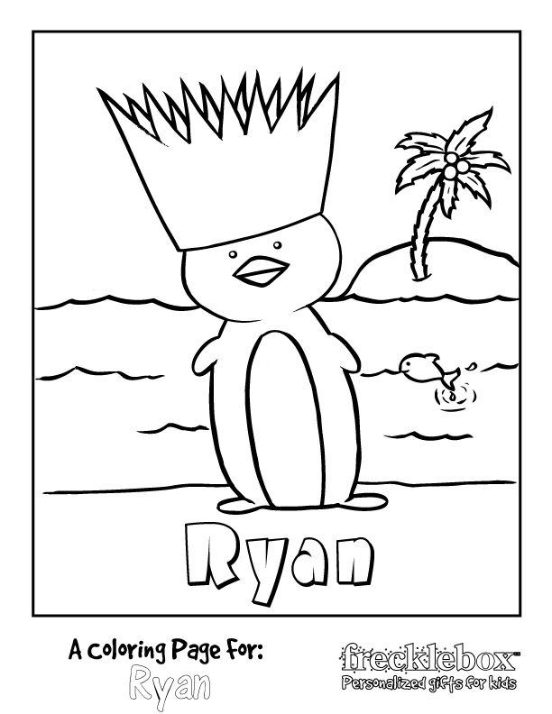 custom/personalized coloring pages (FREE) - maybe for the first ...