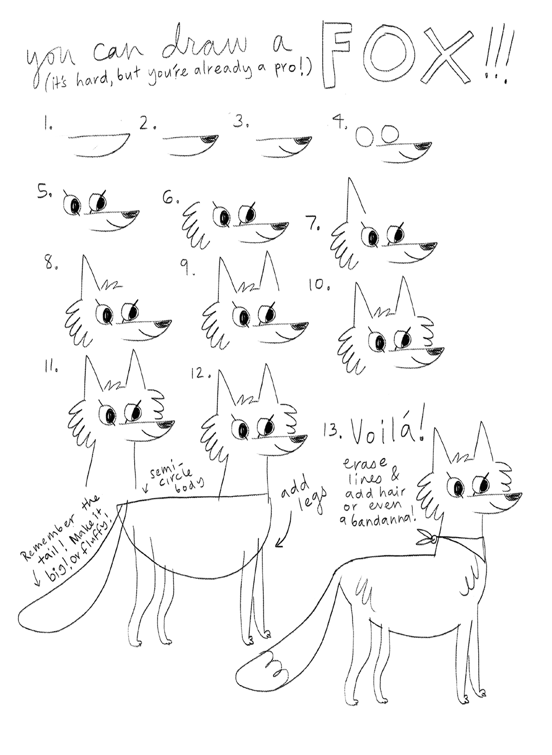 You Can Draw A Fox