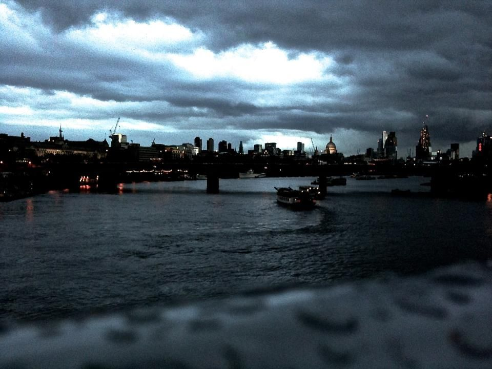 a sight i never tire of - the view from the hungerford bridge