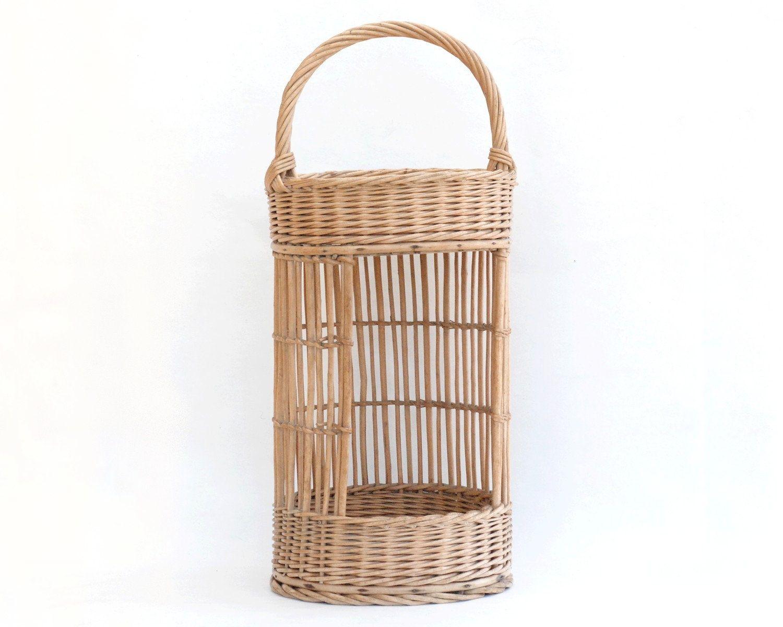 Baguette En Bois Decorative french wicker bread basket, baguette holder, bakery rack