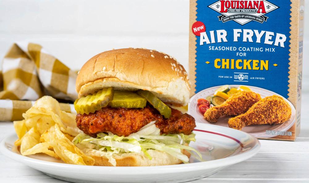 Air Fryer Hot Chicken Sandwich | Louisiana Fish Fry Ninja
